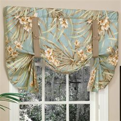 Martinique Tie Up Valance Turquoise 52 x 28