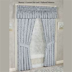 Harrison Tailored Curtain Pair Chrome 98 x 84