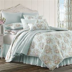 Haley Comforter Set Pale Blue