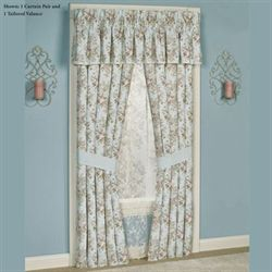 Haley Tailored Curtain Pair Pale Blue 82 x 84