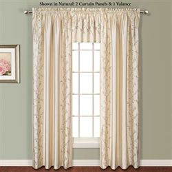 Addison Embroidered Curtain Panel