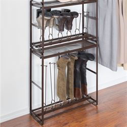 Tilt Out Tall Boot Organizer Bronze