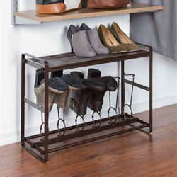 Tilt Out Short Boot Organizer Bronze