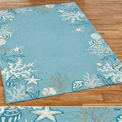 Briny Blue Rectangle Rug Sky Blue