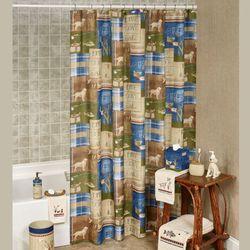 Live Love Lake Shower Curtain Multi Warm 70 x 72