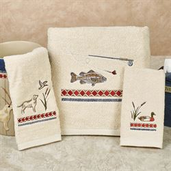 Live Love Lake Bath Towel Set Light Cream Bath Hand Fingertip