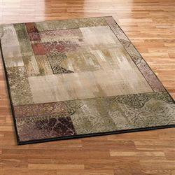 Ornate Block Area Rug