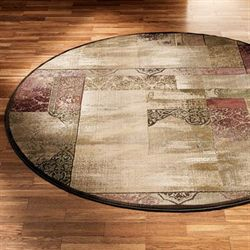 Ornate Block Round Rug