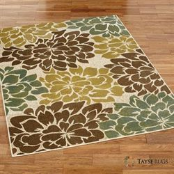 Ivory Terrene Rectangle Rug Multi Earth