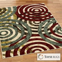 Kinetic Coil Rectangle Rug Multi Jewel