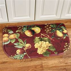 Botanical Fruit Cushioned Slice Mat Burgundy 30 x 18