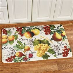 Botanical Fruit Cushioned Rectangle Mat Ivory 35 x 23