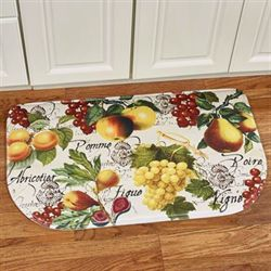 Botanical Fruit Cushioned Slice Mat Ivory 30 x 18