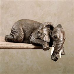 Elephant Shelf Sitter Gray