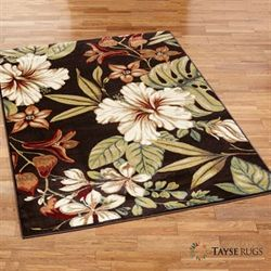 Tropical Flora Rectangle Rug