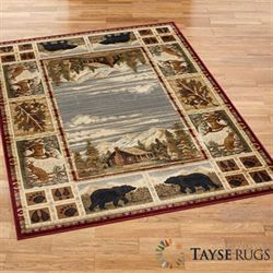 Hunters Cabin Rectangle Rug Multi Earth