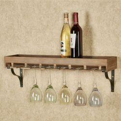 Wine Storage Wall Shelf Natural