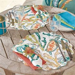 Tidal Pool Round Placemats Multi Bright Set of Six