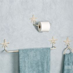 Starfish Toilet Paper Holder Weathered White