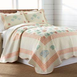 Shell Abundance Bedspread Light Cream