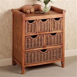 Halston Chest of Drawers Antique Oak Six Drawer