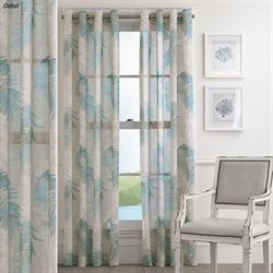 Tamar Sheer Grommet Curtain Panel Steel Blue