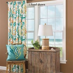 Tidal Pool Tailored Curtain Pool Multi Bright 54 x 84