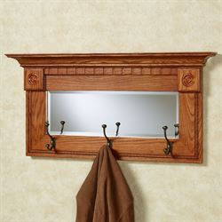 Dentil Pediment Wall Mirror Black