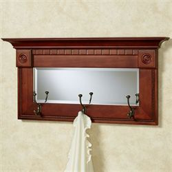 Dentil Pediment Wall Mirror Classic Cherry