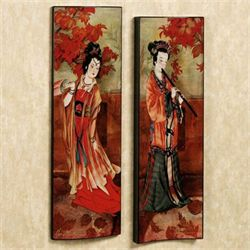 Art of the Geisha Wall Panels