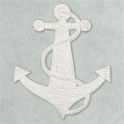 Lets Anchor Wall Art Whitewash