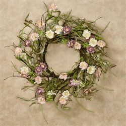 Celebrate Spring Floral Wreath Multi Warm