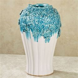 Floral Beauty Vase Blue