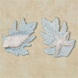 Reef Wall Accents Aqua Set of Two