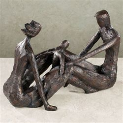 Kindred Souls Table Sculpture Charcoal Black