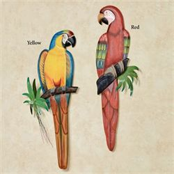 Red Macaw Wall Sculpture Multi Bright