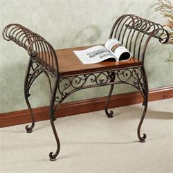 Carenza Bench Dark Bronze