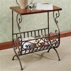 Carenza Magazine Table Dark Bronze