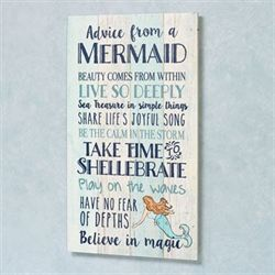 Advice from a Mermaid Wall Plaque Multi Cool