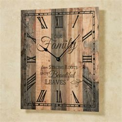 Our Family Wall Clock Multi Earth