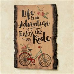 Life Is an Adventure Wall Art Brown