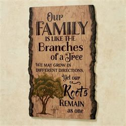 Our Family Wall Art Brown