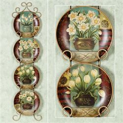 Florals in Bloom Plate Set  Set of Four