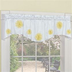 Flower Blossoms Shaped Valance 57 x 14