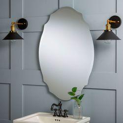 Janene Oval Wall Mirror Clear