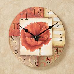 Patchwork Poppy Wall Clock Multi Warm