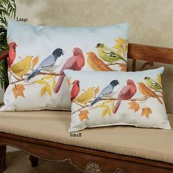 Flocked Together Fall Small Pillow Multi Warm 18 x 13