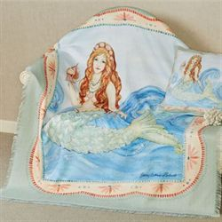 Mermaid Throw Blanket Multi Pastel 50 x 60