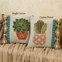 Single Cactus Pillow Multi Cool 16 Square