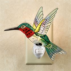 Ruby Throated Hummingbird Nightlight Multi Jewel